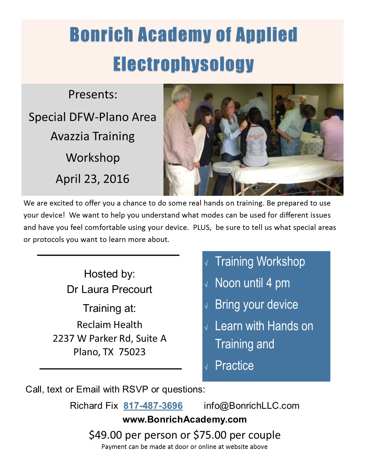 Training Flyer for April 23,, 2016 Dr Laura's
